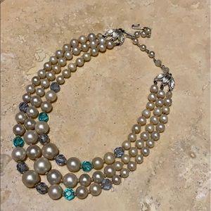 Authentic Vintage Faux Pearl Necklace